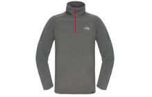 The North Face 100 Glacier  sweat Homme 1/4 Zip gris